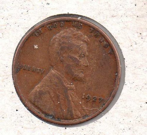 1927 p Lincoln Wheat Penny