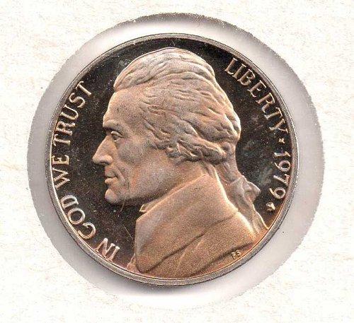 1979 s Jefferson Nickel: Type 1 - Filled S - Proof - #2