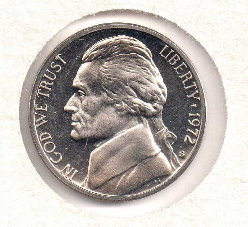 1972 s Jefferson Nickel - Proof - #2