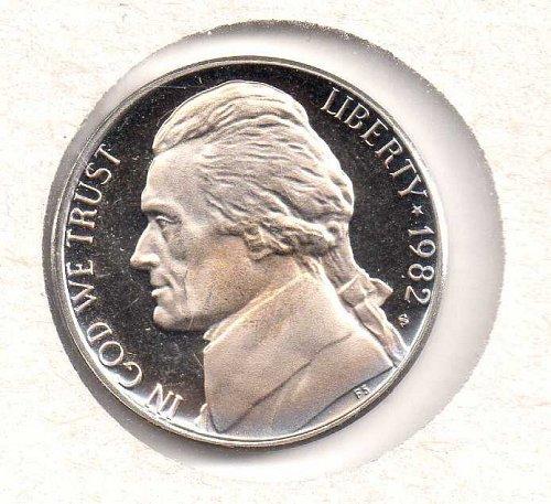 1982 s Jefferson Nickel - Proof