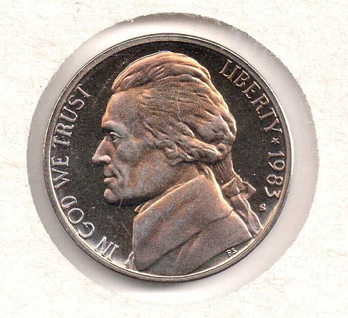 1983 s Jefferson Nickel - Proof - #1