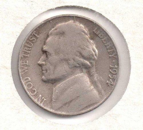 1954 p Jefferson Nickel