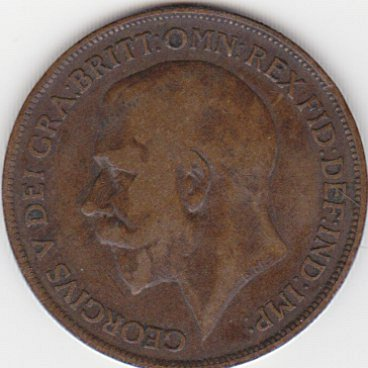 1918 Georgivs VI Great Britain One Penny Cent Coin