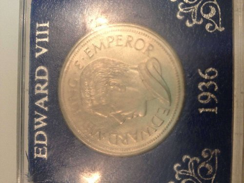 1936 Edward VIII Hong Kong commemorative coin