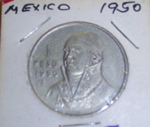 1950 Silver Mexico 1 Peso