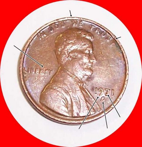 1971 S Lincoln Memorial Cent Small Cents: RePeat MM