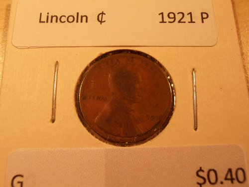 1921 P Lincoln Cent G