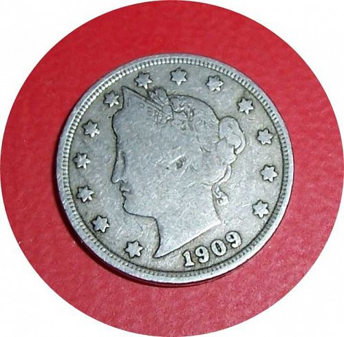 1909 P Liberty Nickel