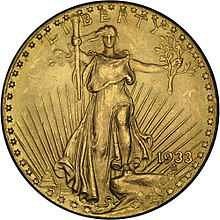 1933 double eagle st. gaudens gold coin