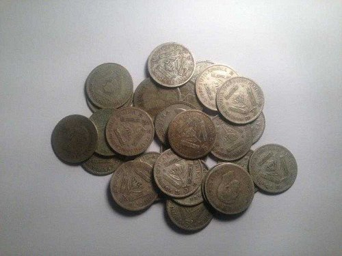 South African three pence (Tickey's) Silver Coins