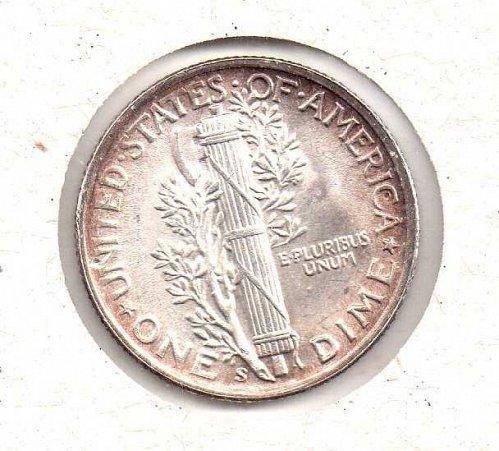 1945 s BU Mercury Dime - #3