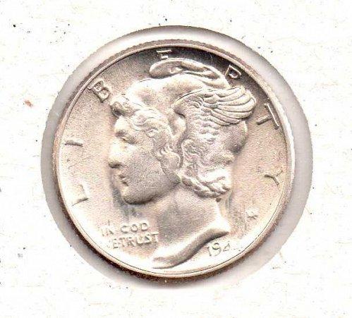 1944 p BU Mercury Dime - #3