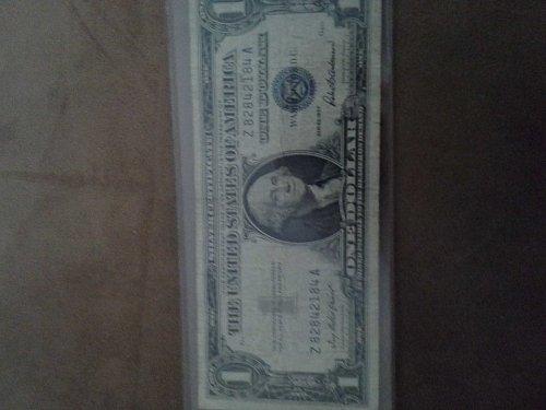 1957 $1 Silver Certificate (VF) Blue Seal