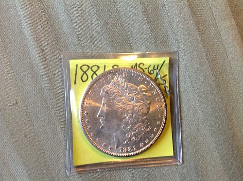1881S Morgan Dollar MS 64/65