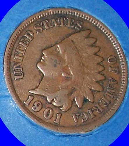 1901 P Indian Head Cent Small Cents
