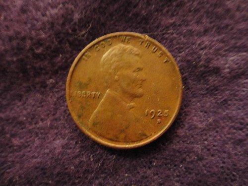 1925-D Lincoln Cent XF Details Net Very Fine 20 Defective Planchet