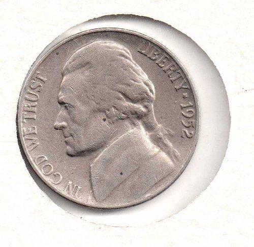 1952 p Jefferson Nickel #3