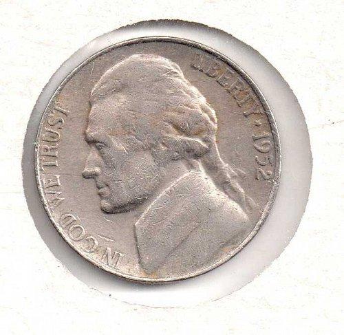 1952 s Jefferson Nickel #3