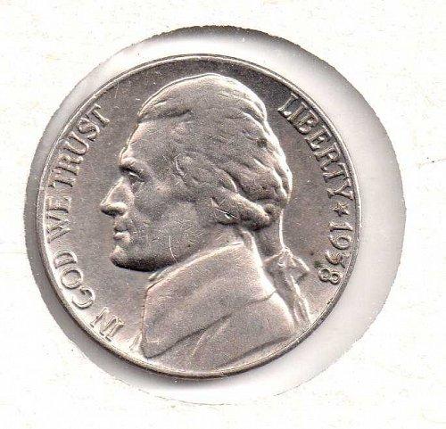 1958 d Jefferson Nickel #2