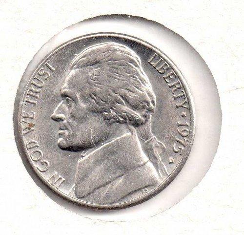 1975 d Jefferson Nickel #2
