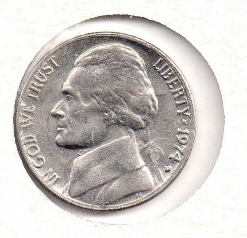 1974 d Jefferson Nickel #2