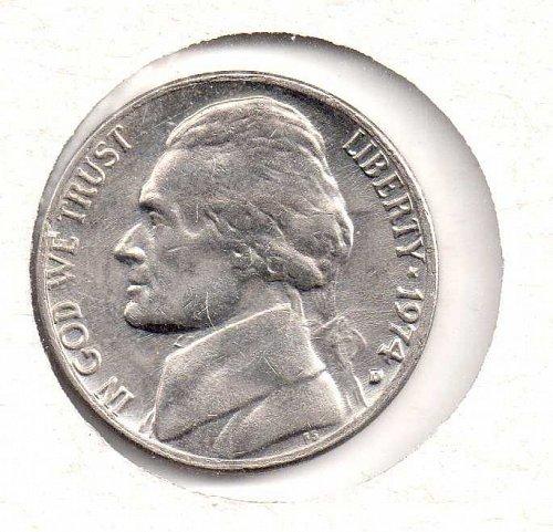 1974 d Jefferson Nickel #2