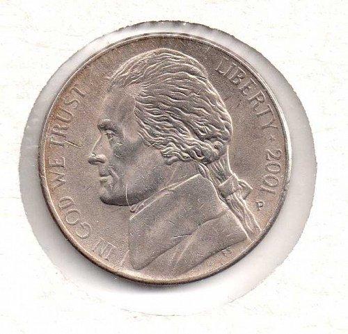 2001 p Jefferson Nickel #2