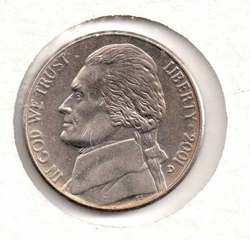 2001 d Jefferson Nickel #2
