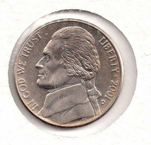 2001 d Jefferson Nickel #2