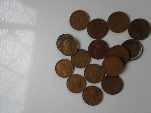 Mixed Lot of 1928, 30s Wheat Cents