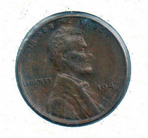1947 s Lincoln Wheat Penny