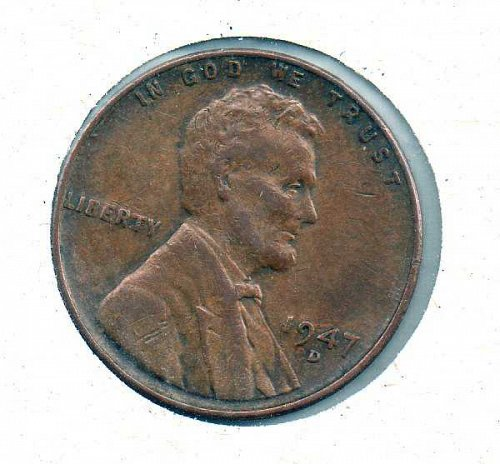 1947 d Lincoln Wheat Penny #2