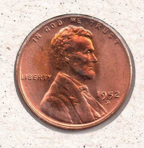 1952 d BU Lincoln Wheat Penny #3