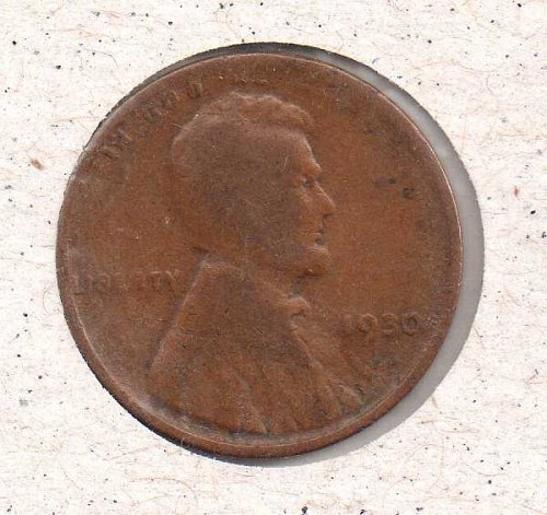 1930 p Lincoln Wheat Penny #2