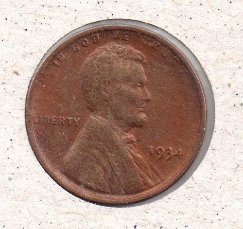 1934 p Lincoln Wheat Penny #2
