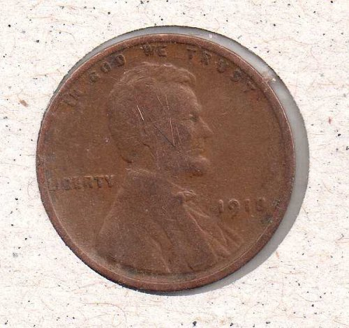 1918 p Lincoln Wheat Penny #3