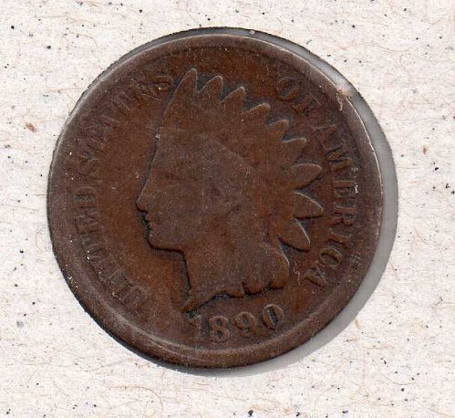 1890 p Indian Head Penny #1