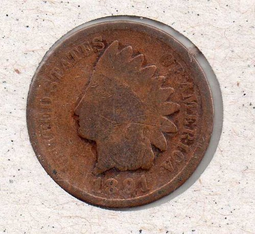 1891 p Indian Head Penny #2