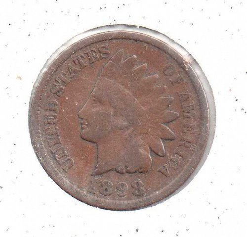 1898 p Indian Head Penny #2