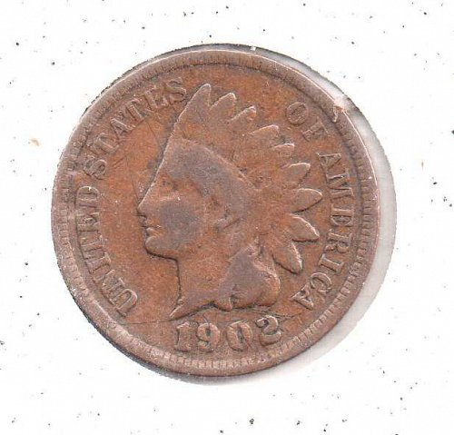 1902 p Indian Head Penny #2
