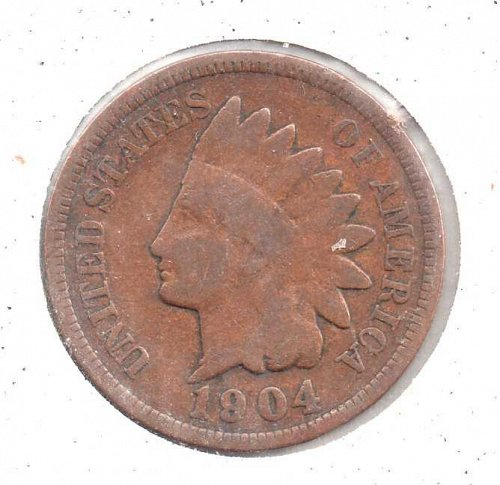1904 p Indian Head Penny #3