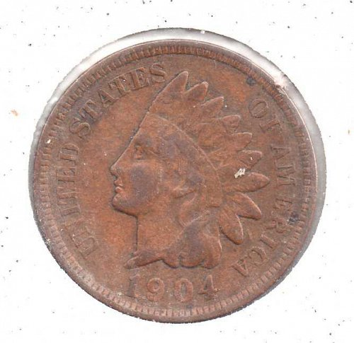 1904 p Indian Head Penny #2