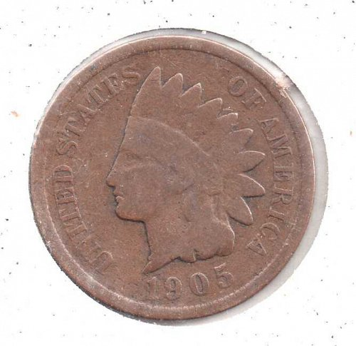 1905 p Indian Head Penny #1