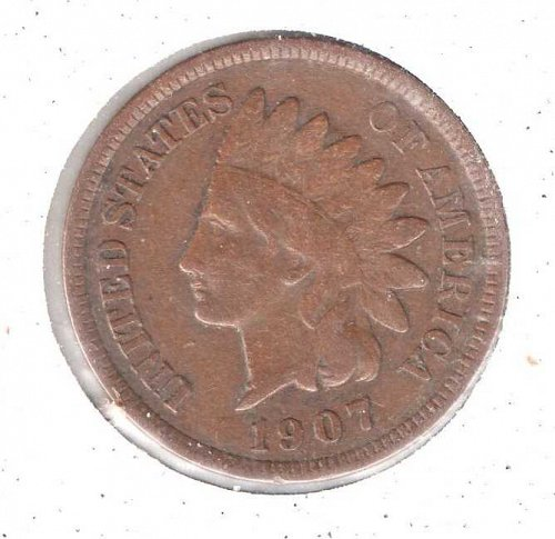 1907 p Indian Head Penny