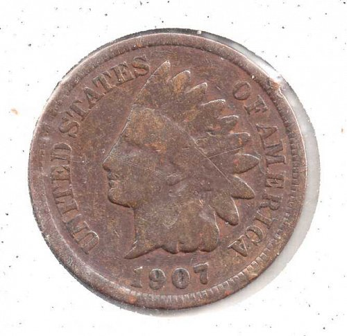 1907 p Indian Head Penny #1