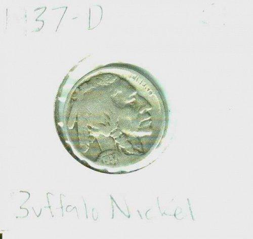 1937-D Buffalo Nickel Indian Head