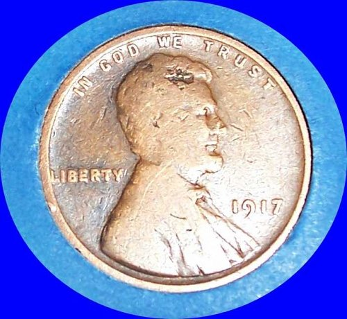 1917 P Lincoln Wheat Cent Small Cents: Doubled Die Obverse