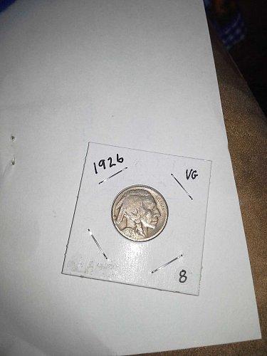 1926 Buffalo Nickel EF