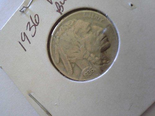1936 Buffalo Nickel VF