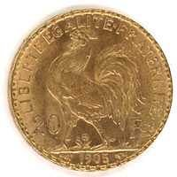 20 francs napoleon gold very good condition